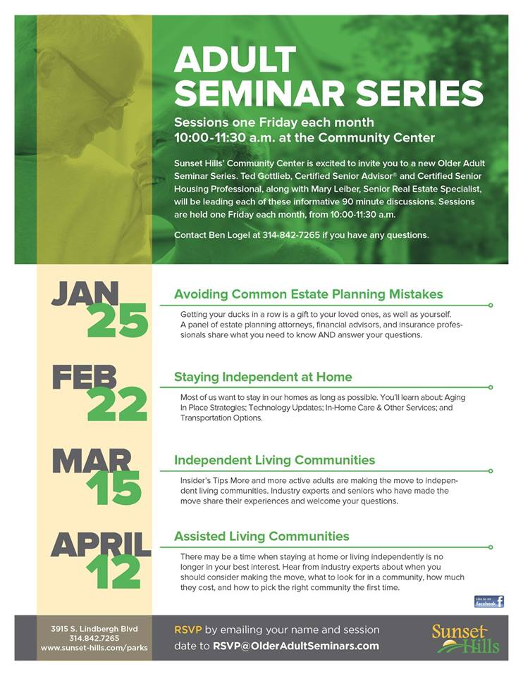 Adult Seminar Series- Sunset Hills